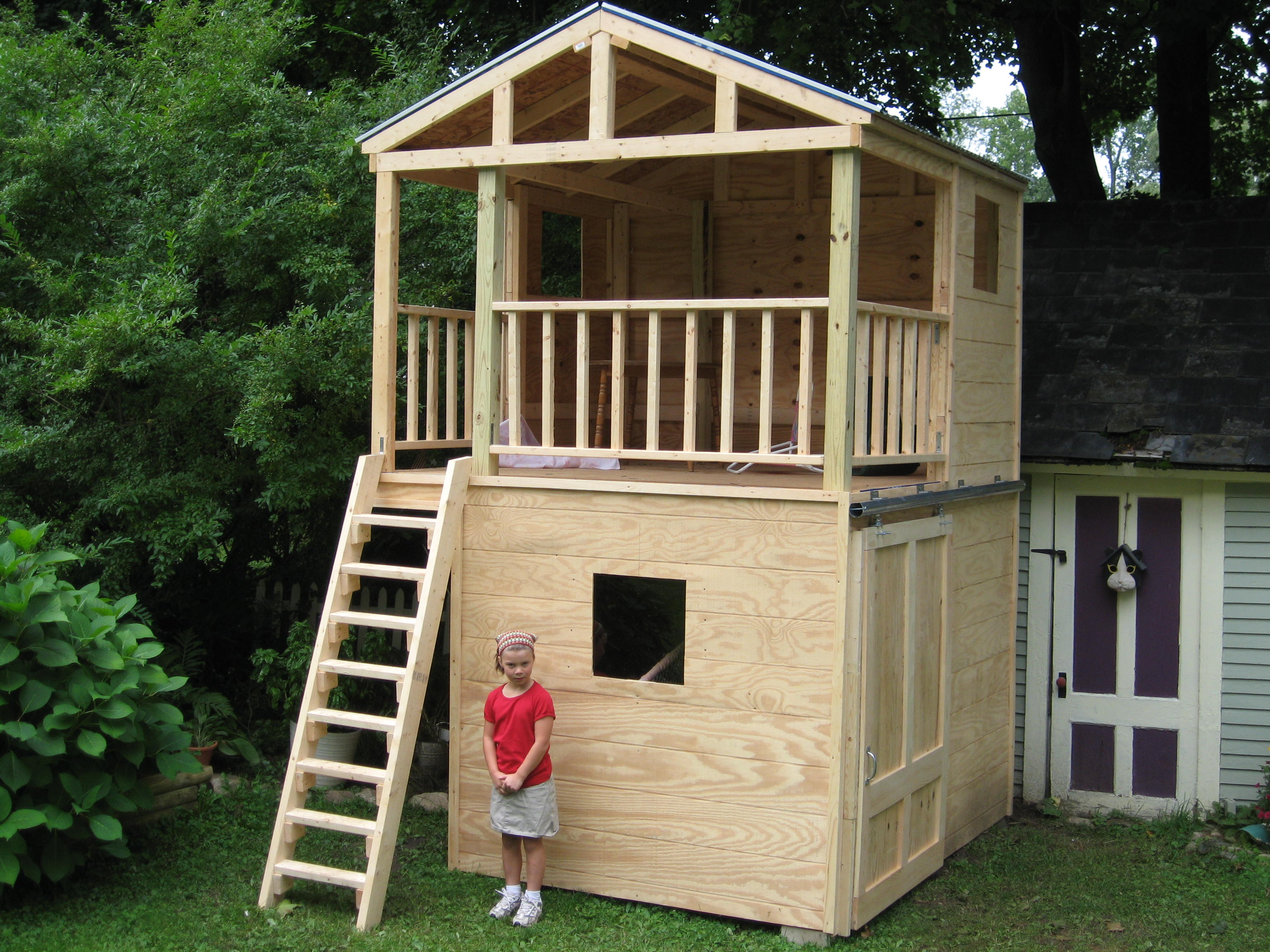awesome playhouse shed combo #6: playhouse storage shed. Combination playhouse storage shed